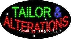 Tailor & Alterations Flashing & Animated LED Sign (High Impact, Energy Efficient)