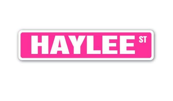 Indoor//Outdoor HAYLEE Street Sign Childrens Name Room Decal