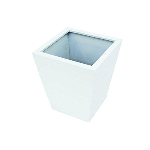 Übertopf RIA, weiß, glänzend, 50 x 45 x 45 cm - Blumentopf eckig / Pflanztopf - monsterkatz