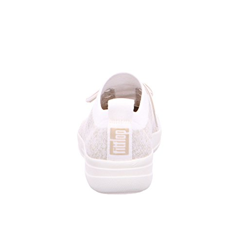 Sneakers Fitflop sporty Baskets Uberknit F Weiß metallic Femme zzAqgw