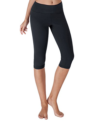 Yoga Reflex - Women's Yoga Capris Leggings - Active Capri Pants With Hidden Pocket (XS-2XL) , Navy , XX-Large