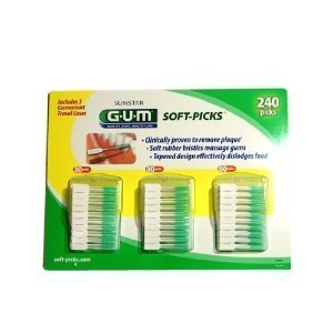 Soft-picks comprennent 3 cas de voyage pratique 80 récolte chaque - Total 240 Soft Picks