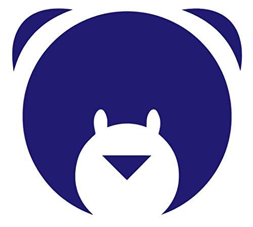 Cute Bear Face (Pack of 2) Vinyl Sticker Decals for Car Bumper Window MacBook Laptop [Purple, 8