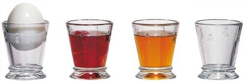 La Rochere Set Of 6, 3-ounce Napoleon Bee Egg Cups/Shot Glasses - Glass Egg Cup