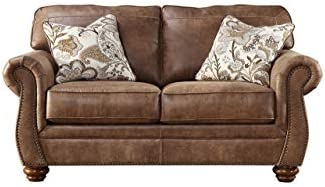 Amazon.com: Acanva Contemporary Leathaire Leather Living ...