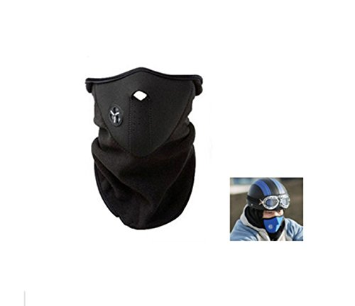 [Unisex Dustproof & Windproof Half Face Mask For Ski Cycling (Black)] (Easy Guy Devil Costume)