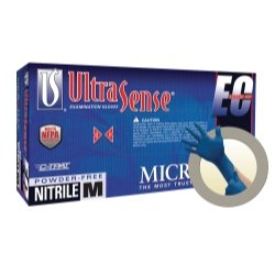 Micro Flex (MFXUSE880XL) UltraSense(tm) EC Extended Cuff Powder Free Nitrile Gloves - Extra Large by Microflex