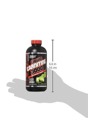 Nutrex Research Liquid L Carnitine 3000, Green Apple, 16 Fluid Ounce