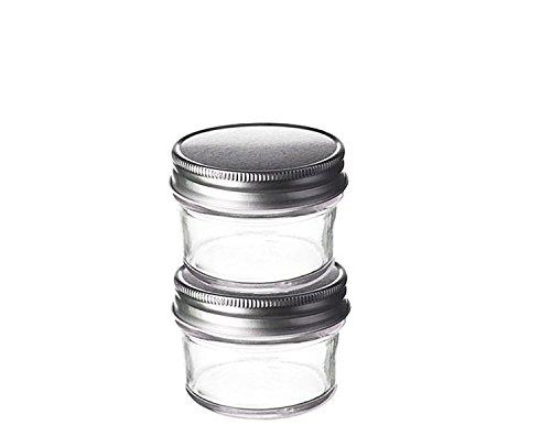 UPC 690443523572, Perfume Studio® Small Eco Mason Glass Jars with Lids. (2-pack, 4oz Tapered Glass Jars, Silver Lids)