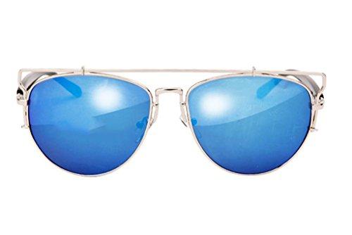 Soleil Eyewear X8 Lunettes 3 Hollow Sunglasses Metal des Couleur Vintage Lunettes de 2 BOwI6I
