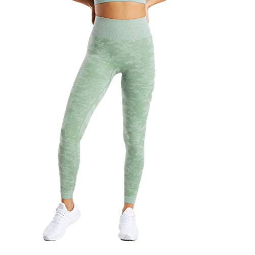 (Luckylin Women's Workout High Waist Leggings Seamless Camouflage Knitted Yoga Pant Control Training Sports Pants (XL,)