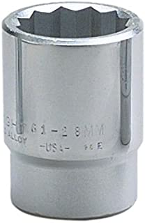 """product image for Wright Tool 61-43MM 3/4"""" Drive 12 Point Standard Metric Socket, 43mm"""