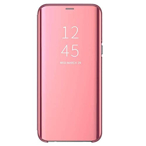 Matop Huawei Honor 8A Case Stand Luxury View Book Style Flip Electroplate Plating Mirror Slim Shockproof Full Body Protective Case Cover for Huawei Honor 8A