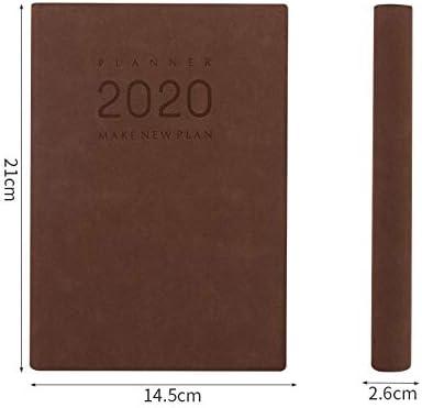 2020 Zeitplan 2020 Zeitplan Buch Plan Notizbuch Notizbuch-A5-dunkelbraun 2020 Planer Tagebuch