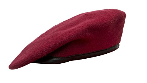 Whites Wool Uniform - Marlow White Uniforms Colored Berets, JROTC (7 1/8, Dark Red)