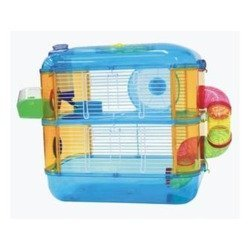 mascota home Jaula para Hamster 2 Pisos Azul: Amazon.es: Productos ...