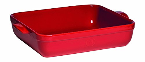 Emile Henry Made In France Lasagna/Roasting Dish 13.75 inch x 10 inchx 2.75 inch Burgundy Red
