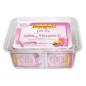 Emergen-C Immune Defense Drink Mix, 0.3 oz, Pink Lemonade Flavor, 50/Pack by Alacer