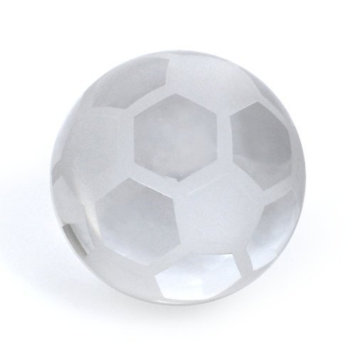 Crystal Soccer Ball Paperweight by MINYA