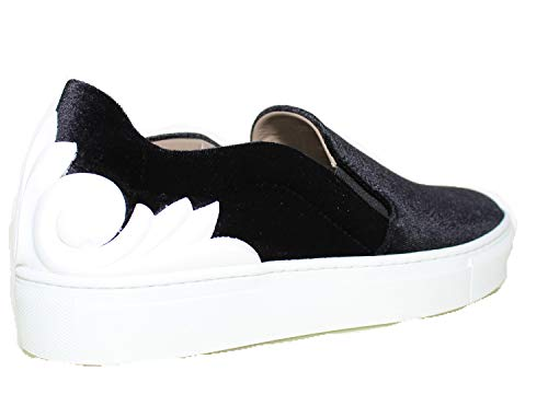 Velluto Versace Donna Barocco Collection Bianco Gomma Scarpa Sneaker 44A7wfq