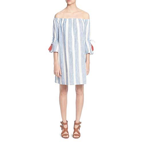 (CATHERINE CATHERINE MALANDRINO Women's Randee Dress, Blue/White, Small )