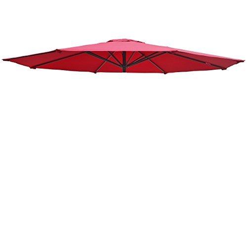 BenefitUSA Umbrella Cover Outdoor Patio Replacement 11.5ft Canopy 8 Rib Top -Burgundy