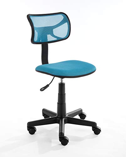 Urban Shop Swivel Mesh Task Chair, Blue