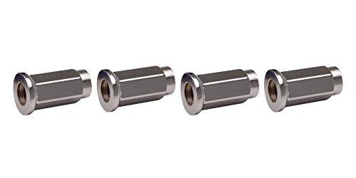 - ITP (4pk) Flat Base Chrome Lug Nut 10mm x 1.25mm Thread Pitch w/14mm Head for Kawasaki KFX 450R 2008-2014