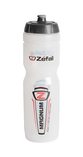 Zefal 164 Water Bottle, 33 oz, Magnum Clear Cycling Water Bottle