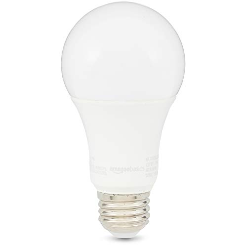 (AmazonBasics 100 Watt 10,000 Hours Non-Dimmable 1500 Lumens LED Light Bulb - Pack of 6, Daylight)