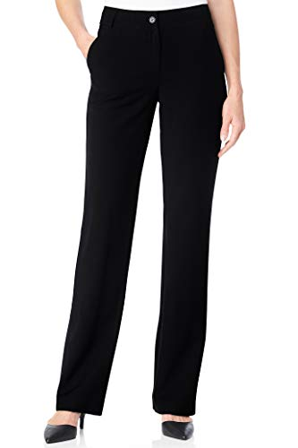 Chadwicks of Boston Suiting Separates Flat-Front Pants | Womens Dress Pants - Dress Black Chadwicks