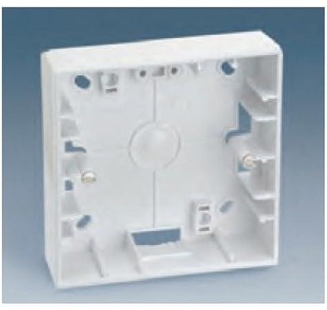 Simon - 27753-65 caja superficie 87x85x37 1a/2e s-27 blanco Ref. 6552730147: Amazon.es: Bricolaje y herramientas