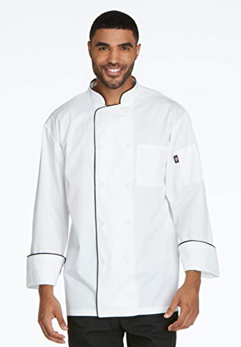 Dickies Chef Men's Cool Breeze Coat, White/Black, Large from Dickies