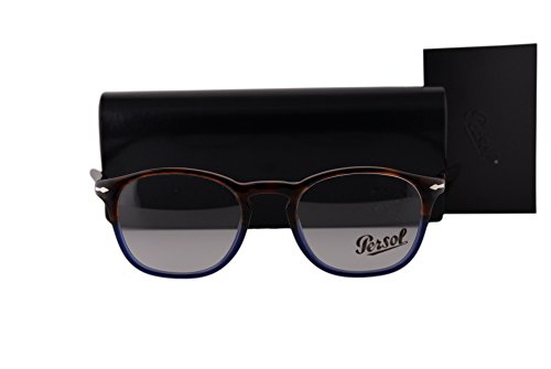 Persol PO3007V Eyeglasses 48-19-145 Havana Blue Vintage Celebration 1022 - Persol Po3007