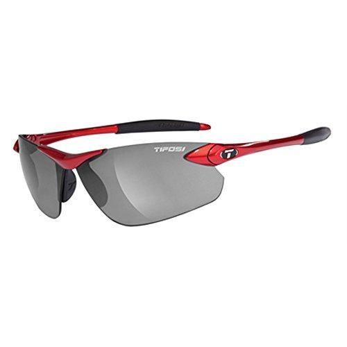 Tifosi Seek FC 0190402770 Wrap Sunglasses,Metallic Red Frame/Smoke Lens,One -