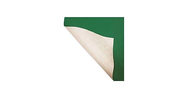 Muletón verde y blanco, mantel protector de mesa con una cara de ...