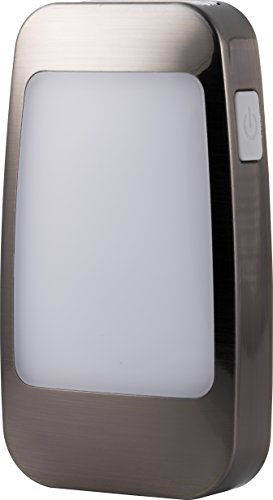 GE 37504 4-in-1 LED Power Failure Night Light, Brushed Nicke