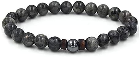 1 Pc armband Mens Ironstone armband kralen armband cadeau voor mannen