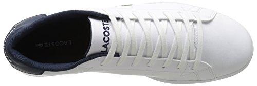 Lacoste Mens Examen Lcr3 Mode Sneaker Vit / Mörkblå