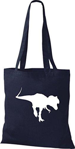 Tela de piel de cocodrilo dinosaurios dinosaurios algodón libro bolsa, bolsa, bolsa de la compra (bolsa de hombro disponible en una gama de colores azul marino