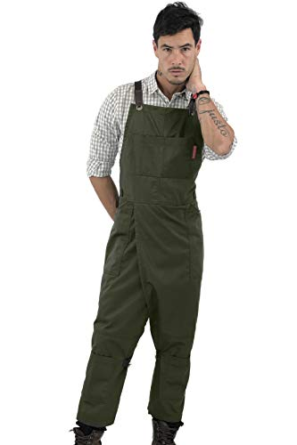 Pottery Moss Green Apron - Full Coverage Cross-Back, Durable Twill, Leather Reinforcement and Overlapping Split-Leg, Adjustable for Men and Women - Pottery Artist, Mechanic, Tattoo Aprons from Under NY Sky