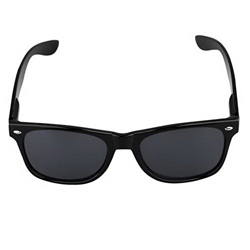 Zimo Hot Fashion 80s Retro Vintage Trendy Cool Causal Black Frame Sunglasses - 80s Eyewear
