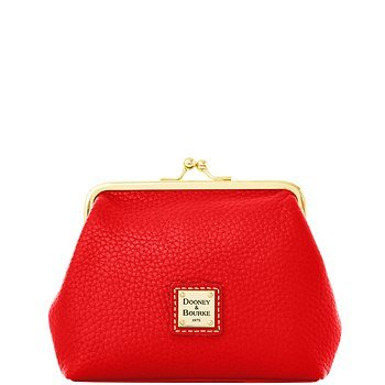 Dooney and Bourke Pebble Grain Large Framed Purse, Red, Bags Central