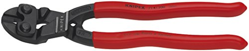Mini Bolt Lever Cutter Action (KNIPEX 71 41 200 SBA Angeled High Leverage Cobolt Cutters with Notch)
