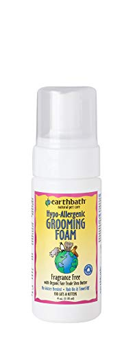 (Earthbath All Natural Hypo-Allergenic Cat Grooming Foam, 4-Ounce)