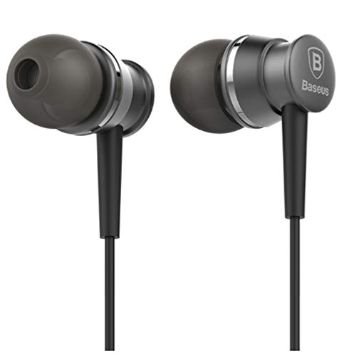 Baseus Lark Series 3.5mm Wired in-Ear Earphone with Mic for IP Samsung Sony - Grey