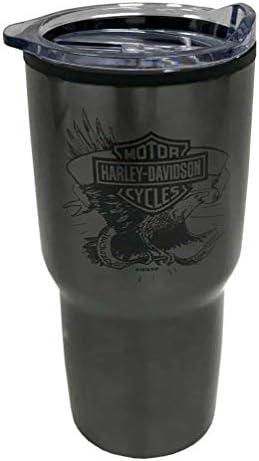 10 oz Harley-Davidson Legendary Eagle B/&S Ceramic Travel Cup w// Lid 3TML4906