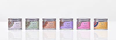 Scented Candles Variety Gift Pack, Lavender, Vanilla, Rose, Jasmine, Sandalwood, Patchouli, Set Of 6 Different Scents, By Karma Scents