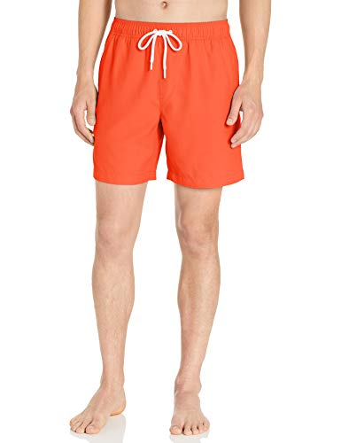 Amazon Essentials Herren Badehose 17,8 cm, Orange, US M (EU M)