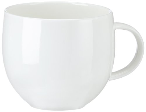 """Alessi""""All-Time"""" Teacups in Bone China (Set of 4), White"""